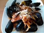 ムール貝とブロッコリーのパスタ