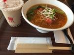 春水堂  ピリ辛トマト担々麺とタピオカミルクティー