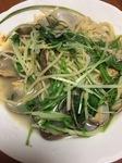 あさりと水菜のスープパスタ