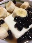 業務スーパーの冷凍タピオカと豆腐で豆花作れました