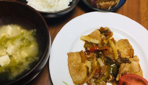 豚肉と野菜の焼肉のたれ炒めの献立