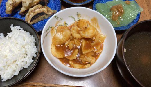 イカチリと餃子の中華献立