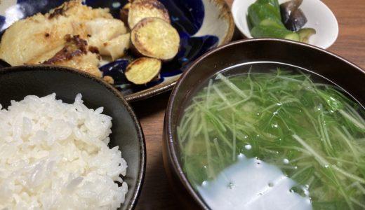 一汁三菜も簡単な焼き魚定食