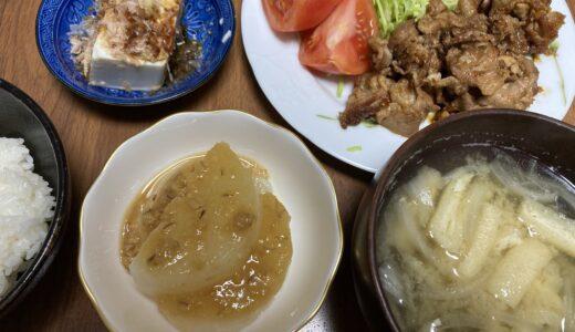 豚肉の生姜焼き定食風献立