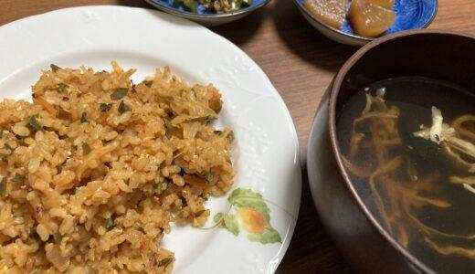 乾物だけでも作る中華スープとニラ醤油を使ったキムチチャーハン