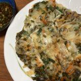お野菜いっぱい♪ しそチーズチヂミでご飯